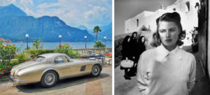Ingrid Bergman - The legendary 1954 Ferrari 375 MM Berlinetta Coupé Speciale Pinin Farina parked in front of the Grand Hotel Villa Serbelloni, Bellagio,