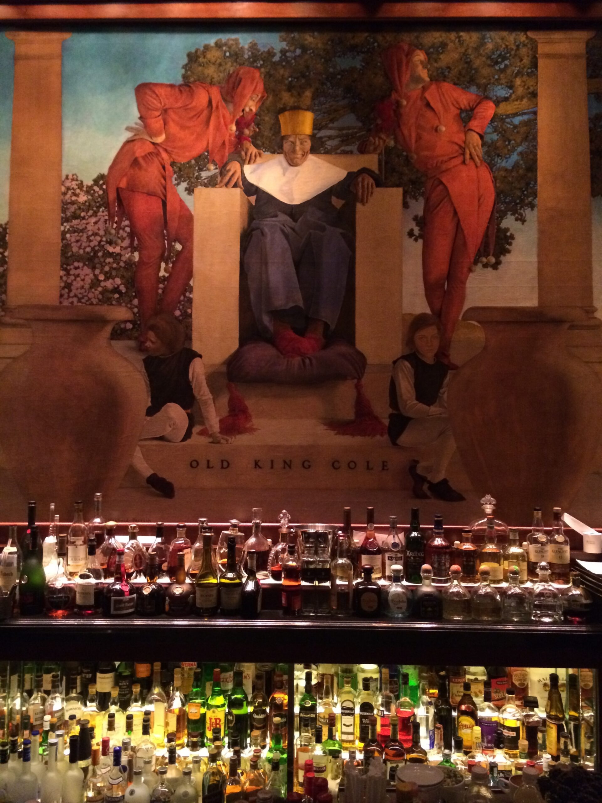 Maxfield Parrish Mural The King Cole bar - St. Regis hotel - New York